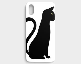 iPhone cases by JRG - Black Cat Standing