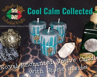 Cool Calm Collected ~ Royal Enchanted Votive Candle
