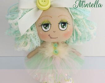 Millie Mintella, Cute ballerina, collectable cloth art doll