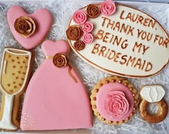 Wedding gift box / Bridesmaid gift box / Maid of honour gift box