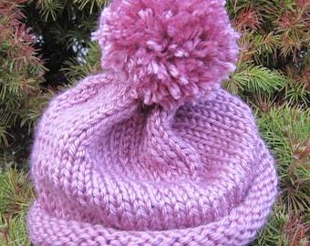 Baby Hat - Pink Pom Pom