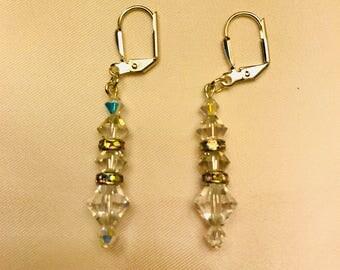 Classic Swarovski Crystal Dangle Earrings