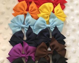 13 Hair Bows - 3.5 inch hair bows - Hair Bow Lot - Wholesale Hair Bow Lot