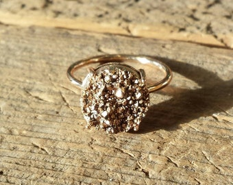 Rose Gold Druzy Ring