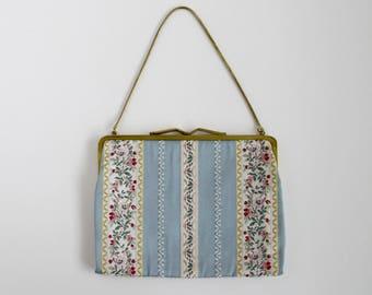 1950s Tapestry Bag 50s Handbag Tapestry Purse Western Germany