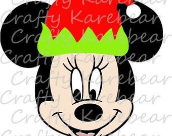 Minnie Mouse with Elf Hat SVG Digital File Download