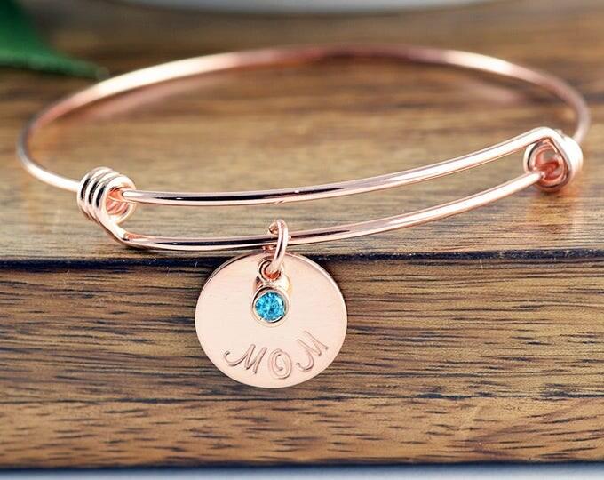 Rose Gold Bracelet, Mom Gift - Family Bracelet - Birthstone Bracelet - Birthstone Jewelry - Mother Bracelet - Mothers Day Gift