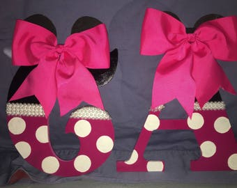 Handpainted Minnie Mouse Letters