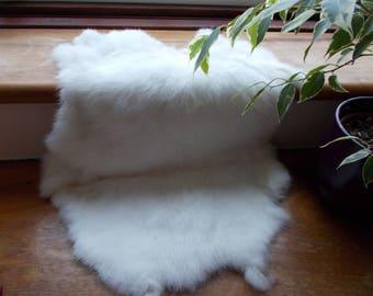 Pure White Rabbit Pelt