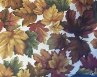 Autumn Leaves Print Fabric