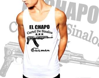 El Chapo Guzman Tank Top Sinaloa Cartel Mexican Druglord Cotton Tank