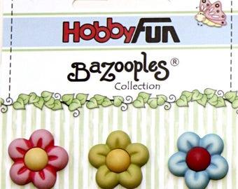 3 buttons scrapbooking flower rsine fantasies