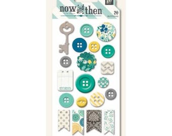 20 buttons decoration scrapbooking NOW AND THEN sets