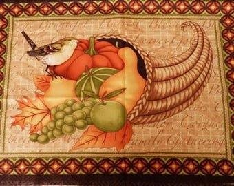 Fabric patchwork/decorating 1 bird and fruit tile