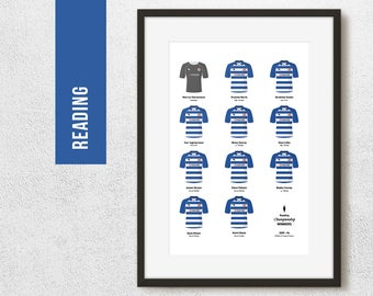 Reading 2006 Championship Winners Team Print, Football Poster, Football Gift, FREE UK Delivery