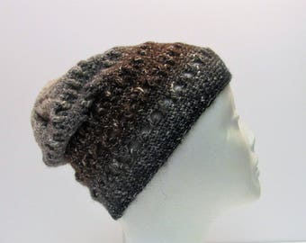 Wild But Dark Criss-Cross Slouchy Winter Hat (A7)