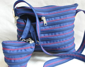 bag zipper fully zipped Blue Navy