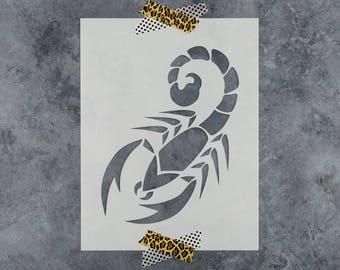 Scorpion Stencil - Reusable DIY Craft Stencils of a Scorpion