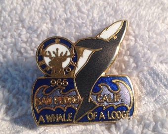Vintage 966 B POE Pin San Pedro California Whale Pin A Whale of a Good Time