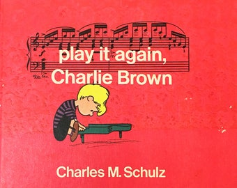 Play it Again, Charlie Brown by Charles M. Schulz.  First Edition, vintage book circa 1971.  Children's classic gift.  Book Lover.  Snoopy