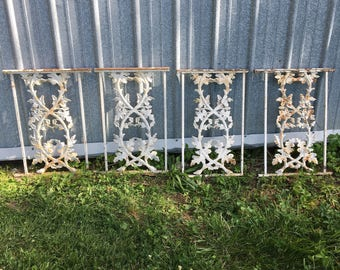 Antique iron fence parts.