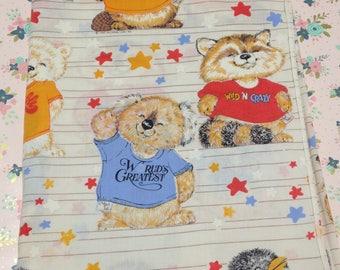 Vintage 1980 Hallmark ~Shirt Tales~ Twin sheet and single pillowcase