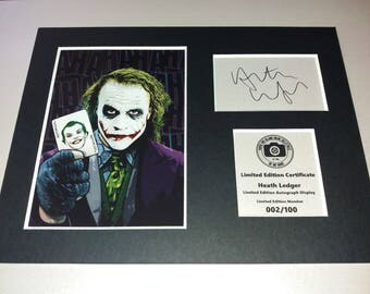 Heath Ledger - The Joker - Batman - Signed Autograph Display - Fully Mounted and Ready To Be Framed V2