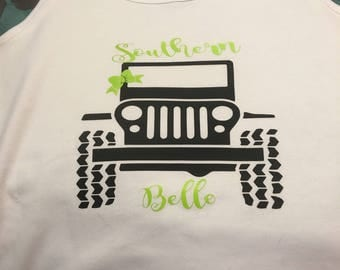 Southern Belle Jeep tank top