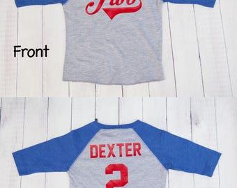 Baseball Birthday Age Shirt For Boys