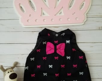 Black and Pink  Baby girl dress.