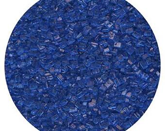 Royal Blue Sugar Crystals Edible Cake Cupcake Cakepop Decorations 4 oz