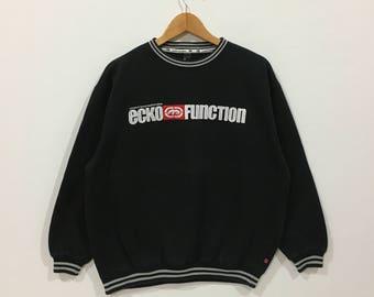 Rare !!! Ecko function big spell out logo sweatshirt