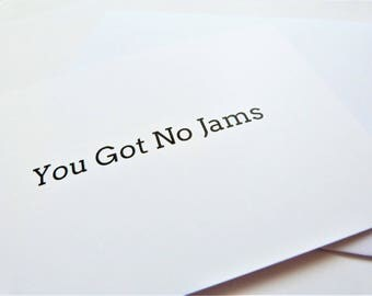 BTS Quote 'You Got No Jams' Postcard Wall art Print Card Korean Kawaii Cute Funny Kpop BTS Army Fans Bangtan Boys Rap Monster