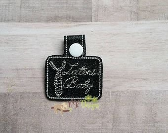 Laters Baby Key Fob Key Ring Machine Embroidery Design Digital Download 4x4 5x7 6x10 Instant Download