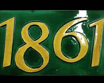 Address plaque, house numbers, ceramic address plaque, house numbers, stunning address plaque, tile address plaque