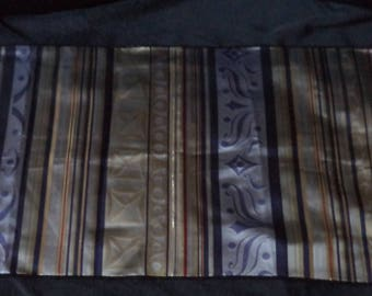 fabric with blue and gold stripes 90 cm x 48 cm of good quality
