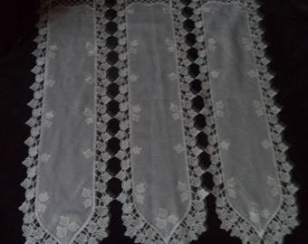 white curtain with lace height 57 cm width 48 cm new
