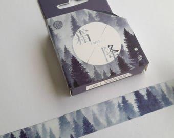 Forest Washi Tape, MT, trees washi, scenery washi, landscape, 15 mm x 7 m, scrapbooking, journal, stationary, trees forest washi, washi uk,