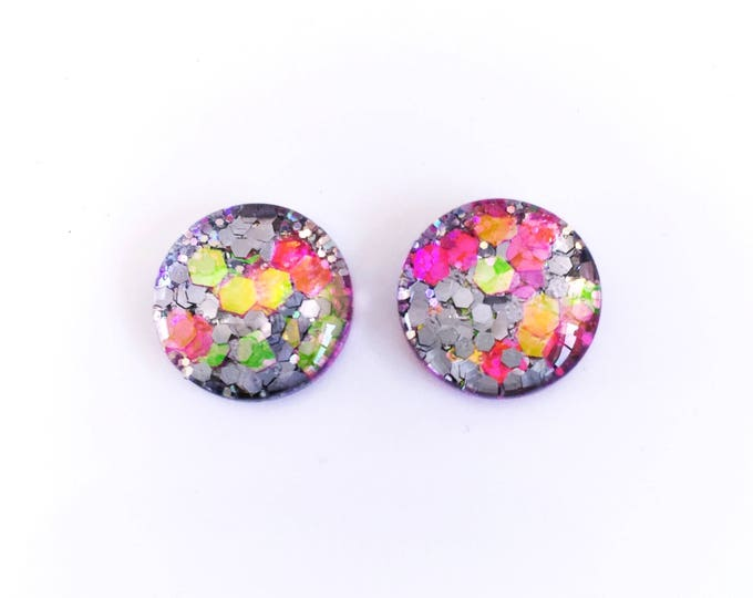 The 'Angel' Glass Glitter Earring Studs