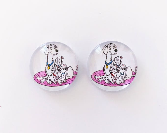 The '101 Dalmatians' Glass Earring Studs