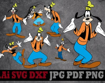 Goofy svg, Disney svg for cricut Goofy clipart, Disney svg files Goofy silhouette digital files svg dxf png Ai pdf svg files for cricut