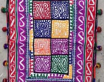 Both side heavily embroidered Rabari bag, Rabari Gypsy sack bag, Bohemian Duffle bag, Rabari bag, Banjara bag, Indian Tribal bag
