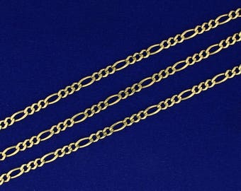 19 Inch Gold Figaro Neck Chain