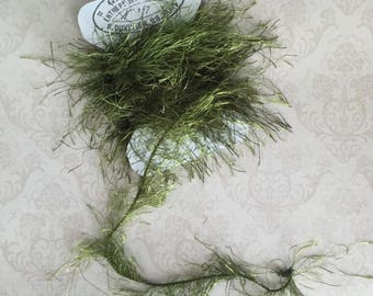 Forest Moss Green Eyelash Yarn Trim Great for Journals Scrapbooking Mixed Media Projects Craft Supplies Gift Tags and Gift Giving Creations