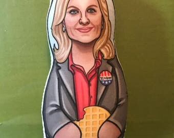 Leslie Knope Parks and Rec Inspired Plush Doll or Ornament
