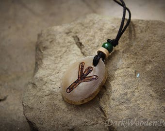 Algiz Rune Horn necklace