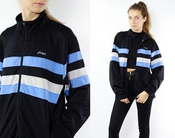 Asics Track Jacket Asics 90s Track Jacket 90s Shell Jacket Vintage Windbreaker Vintage Track Jacket 90s Windbreaker Asics Windbreaker