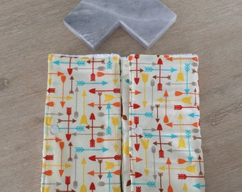 Extra large burp cloths / newborn baby burp cloths - set of two (2)