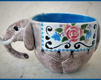 Elephant Ceramic Mug/Soup bowl