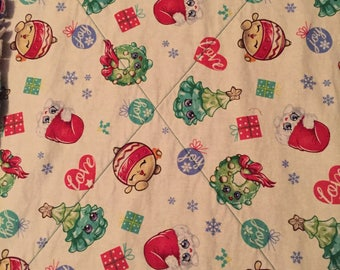 Shopkins and Trolls Christmas Quilt - Full Size
